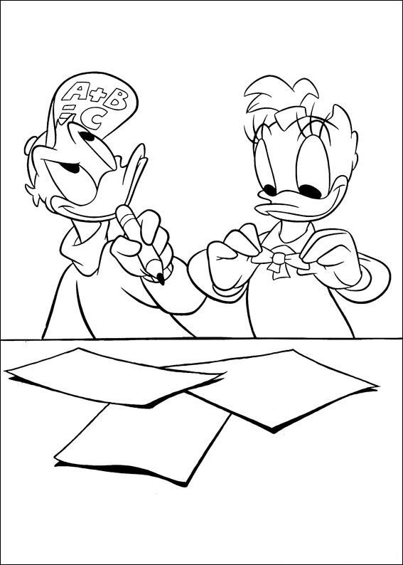 Kids-n-fun Malvorlage Daisy Duck Daisy Duck