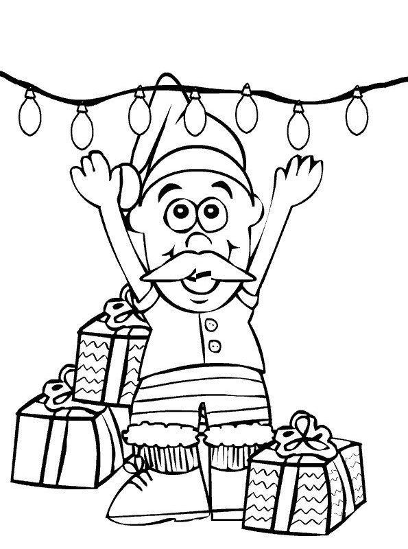 Kids-n-fun Malvorlage Weihnachten Santa Claus