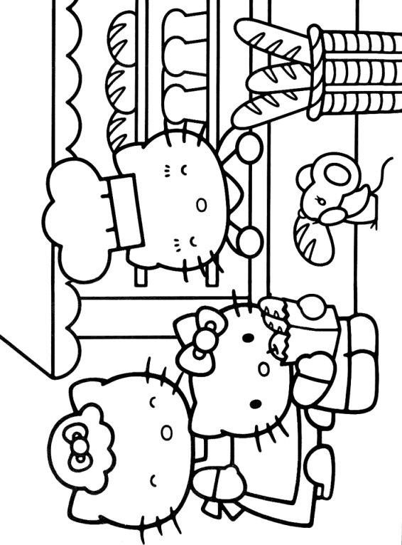 Kids-n-fun Malvorlage Hello Kitty Hello Kitty