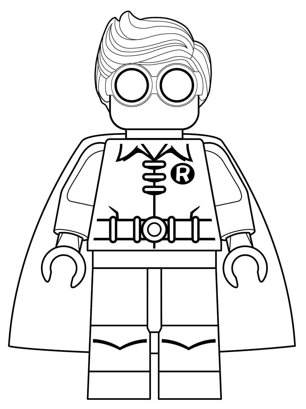Kids-n-fun Malvorlage Lego Batman Movie robin