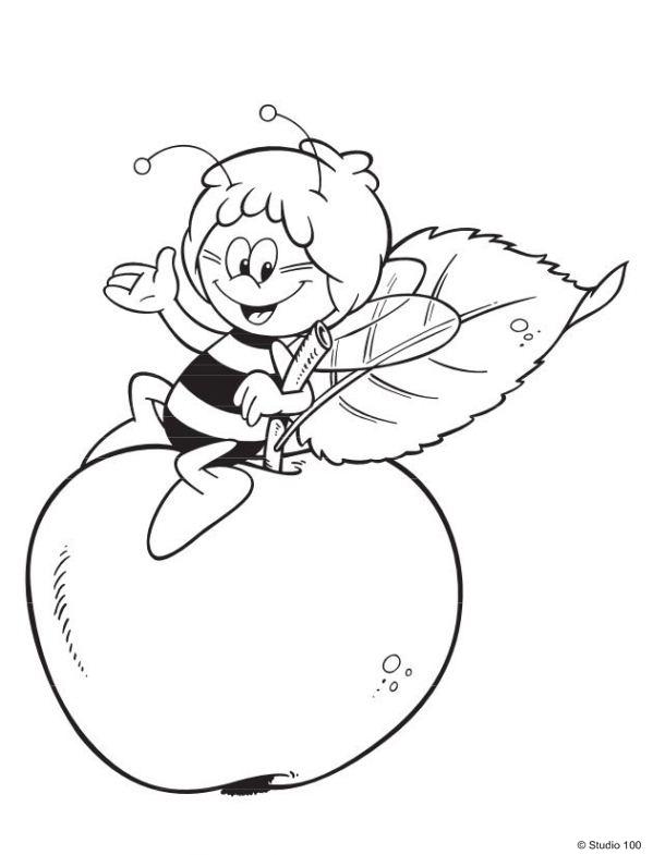 Kids-n-fun 55 Ausmalbilder von Biene Maja