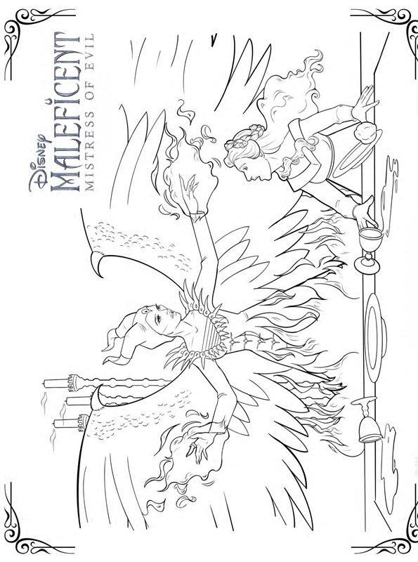 Kids-n-fun Malvorlage Maleficent 2 Mistress of Evil