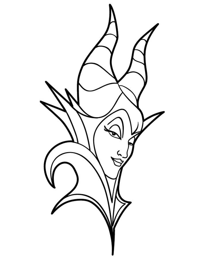 Kids-n-fun Malvorlage Maleficent Maleficent