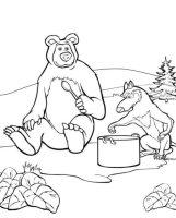 Kids n fun.de   Malvorlage Mascha und der Bär Masha und Bär