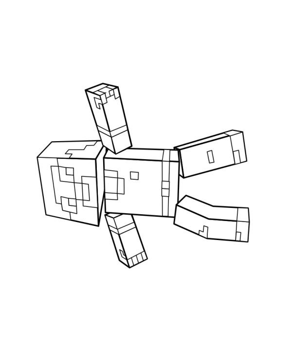 Kids-n-fun Malvorlage Minecraft Minecraft
