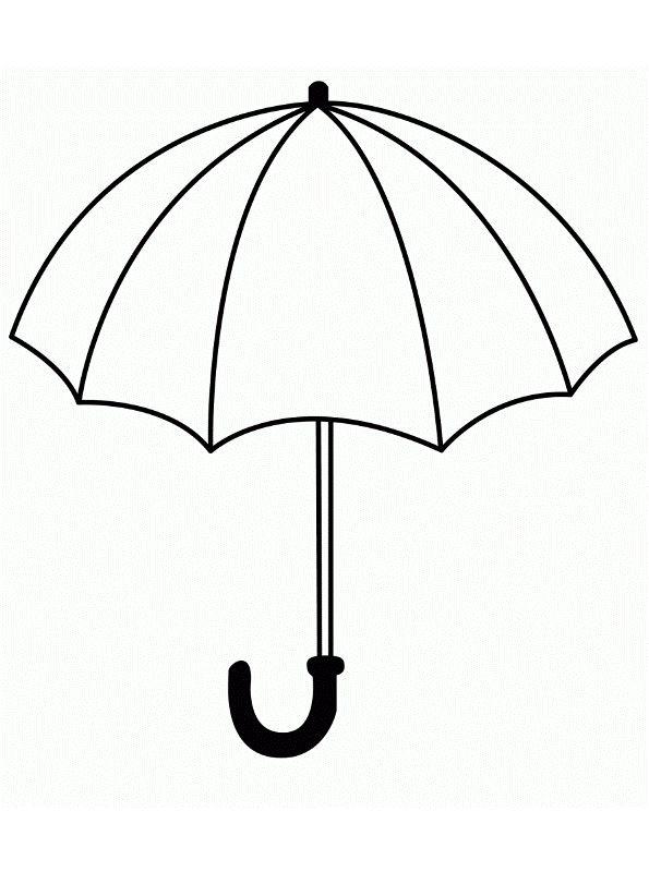 Kids-n-fun Malvorlage Regenschirm Regenschirm