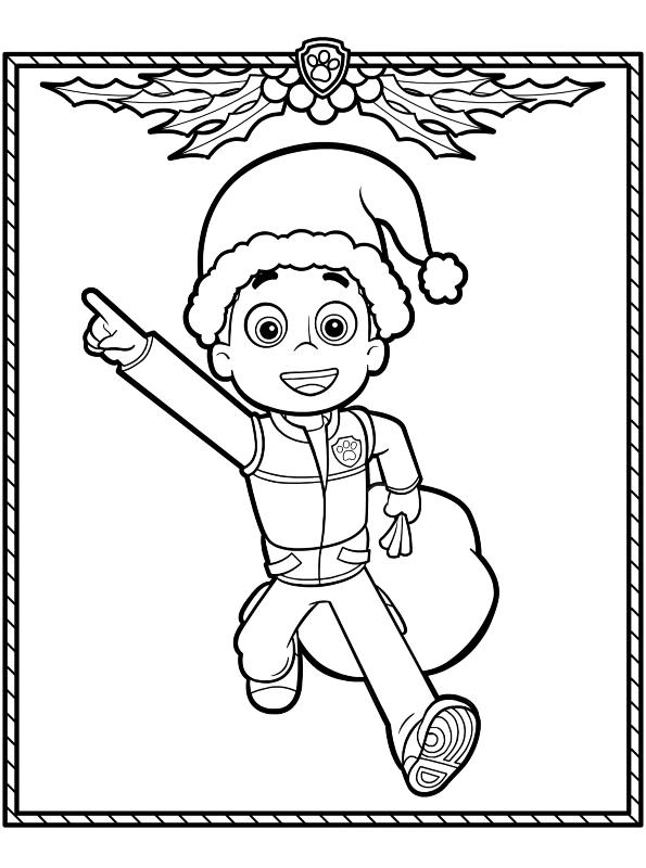 Kids-n-fun Malvorlage Paw Patrol Weihnachten Ryder