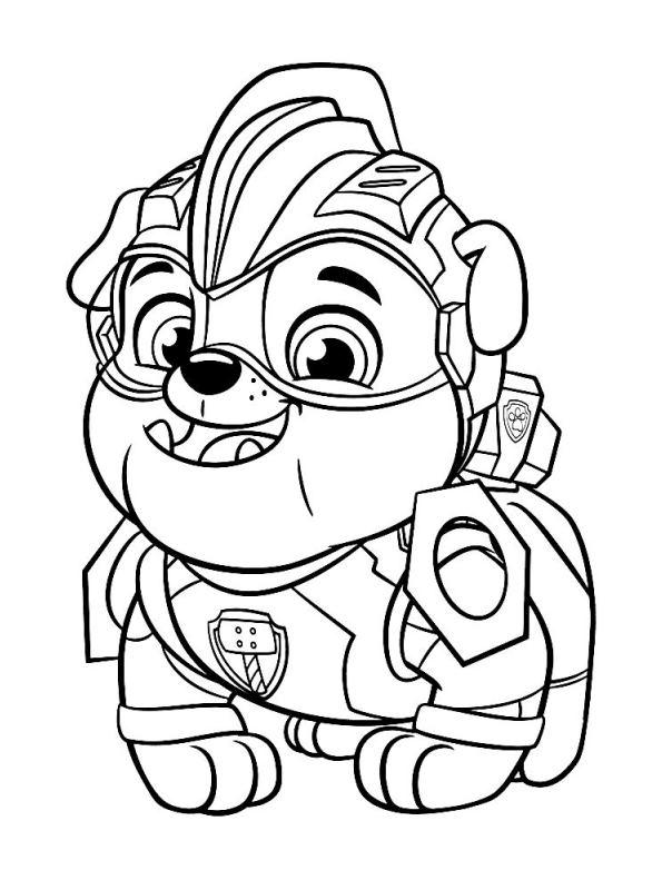 Kids-n-fun Malvorlage Paw Patrol Mighty Pups Paw