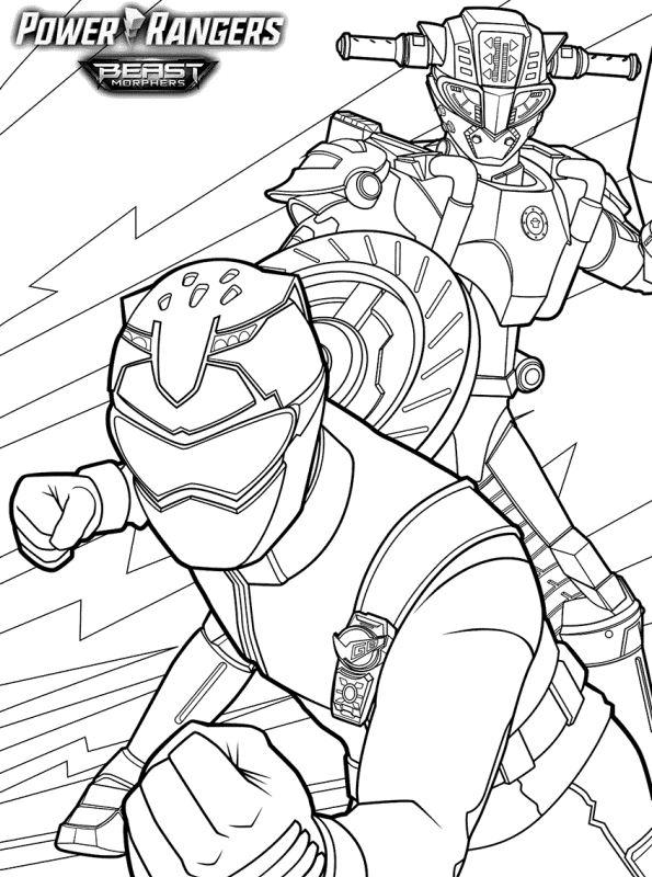 Kids-n-fun Malvorlage Power Rangers Beast Morphers