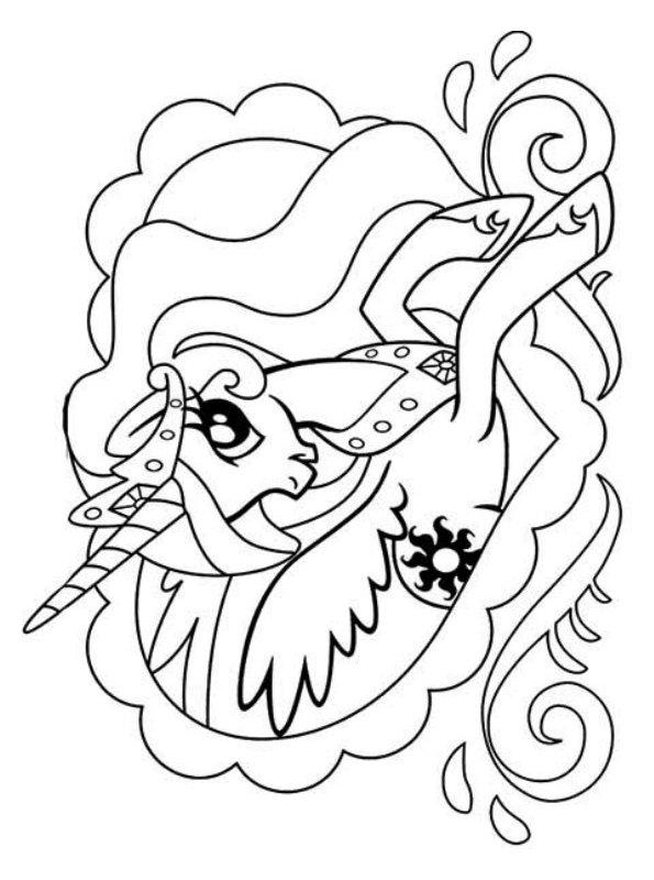 Kids-n-fun Malvorlage Prinzessin Celestia My Little
