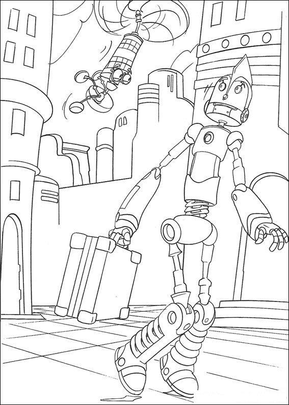 Kids-n-fun Malvorlage Roboter Roboter