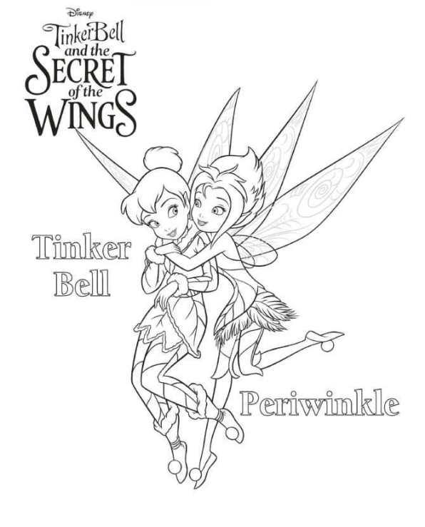 Kids-n-fun Malvorlage Tinkerbell Das Geheimnis der