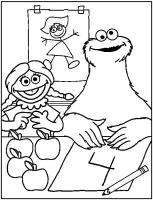 Kids n fun.de   Malvorlage Sesamstrasse Sesamstrasse