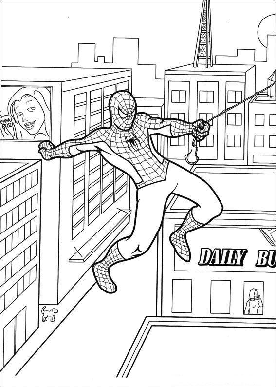 Kids-n-fun Malvorlage Spiderman Spiderman
