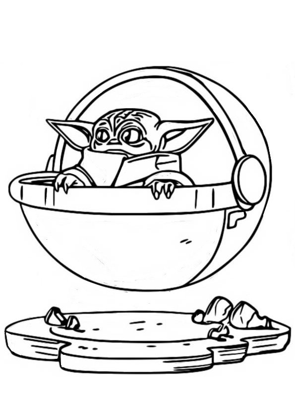 Kids-n-fun Malvorlage Star Wars Mandalorian