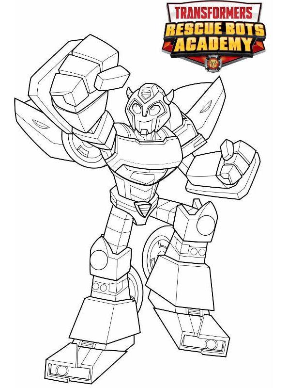 Kids-n-fun Malvorlage Transformers Rescue Bots Bumblebee