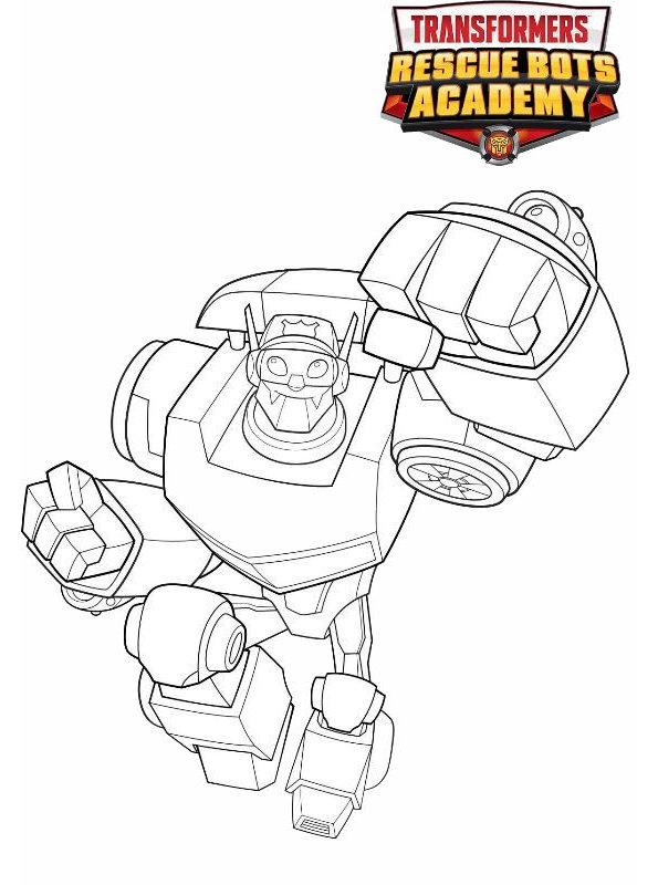 Kids-n-fun Malvorlage Transformers Rescue Bots Chase