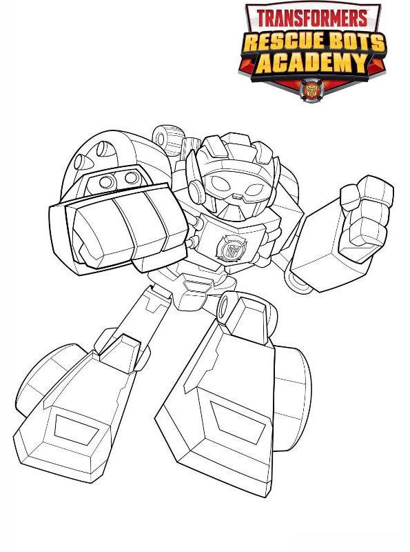 Kids-n-fun Malvorlage Transformers Rescue Bots Hotshot