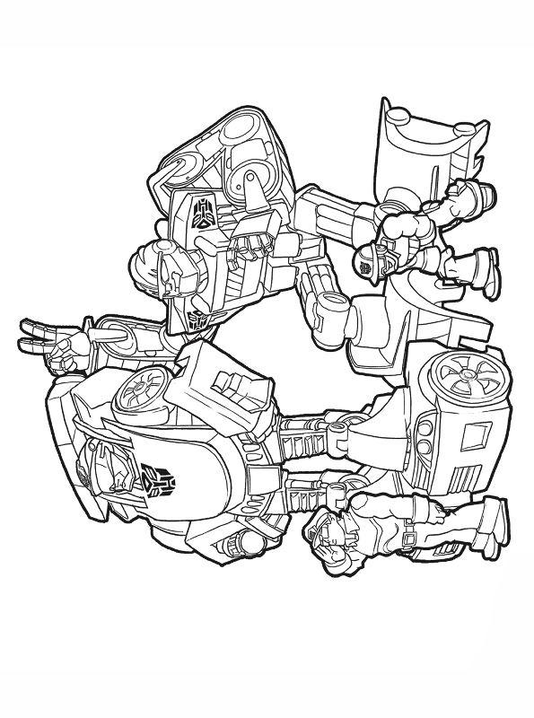 Kids-n-fun Malvorlage Transformers Rescue Bots