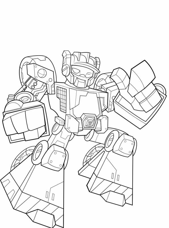 Kids-n-fun Malvorlage Transformers Rescue Bots Wedge 2