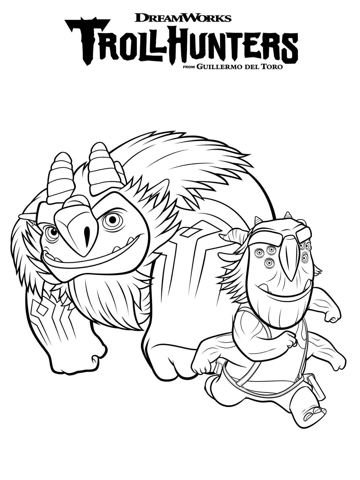Kids-n-fun 10 Ausmalbilder von Trollhunters