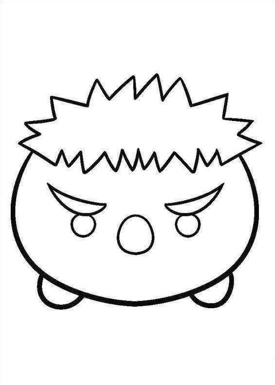 Kids-n-fun Malvorlage Tsum tsum hulk