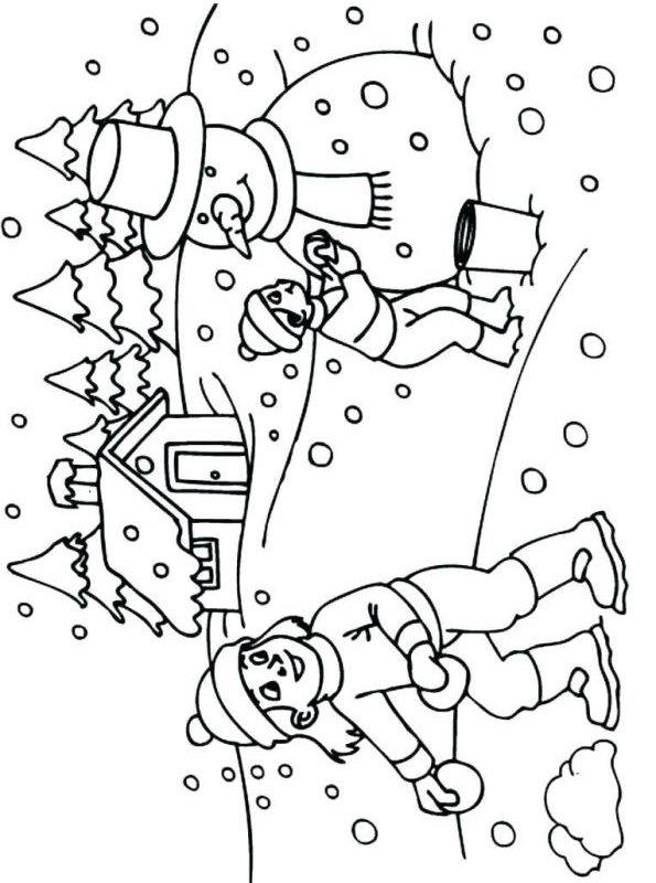 Kids-n-fun Malvorlage Winter Winter