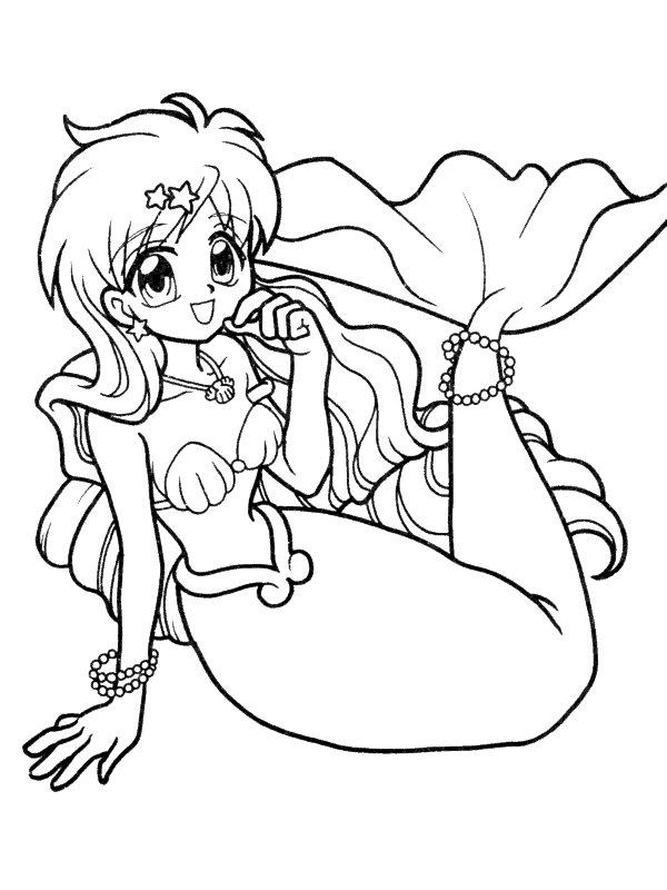 Kids n fun.de   Malvorlage Meerjungfrau Meerjungfrau