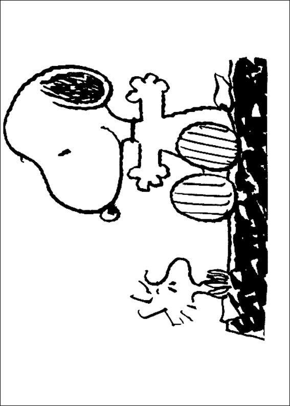 Kidsnfun  23 Kleurplaten van Snoopy