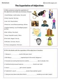 Superlatives worksheet