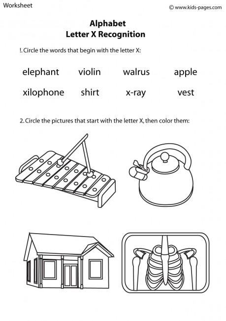 La Escuela de Ingles de Eva: Alphabet: letter X recognition