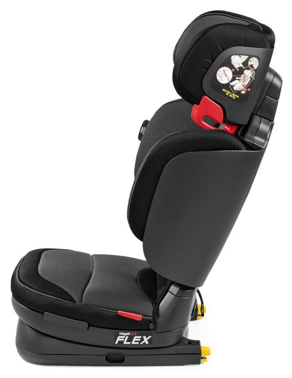 Peg Perego Child Car Seat Viaggio 2-3 Flex 2019 Crystal Black - Kidsroom Seats