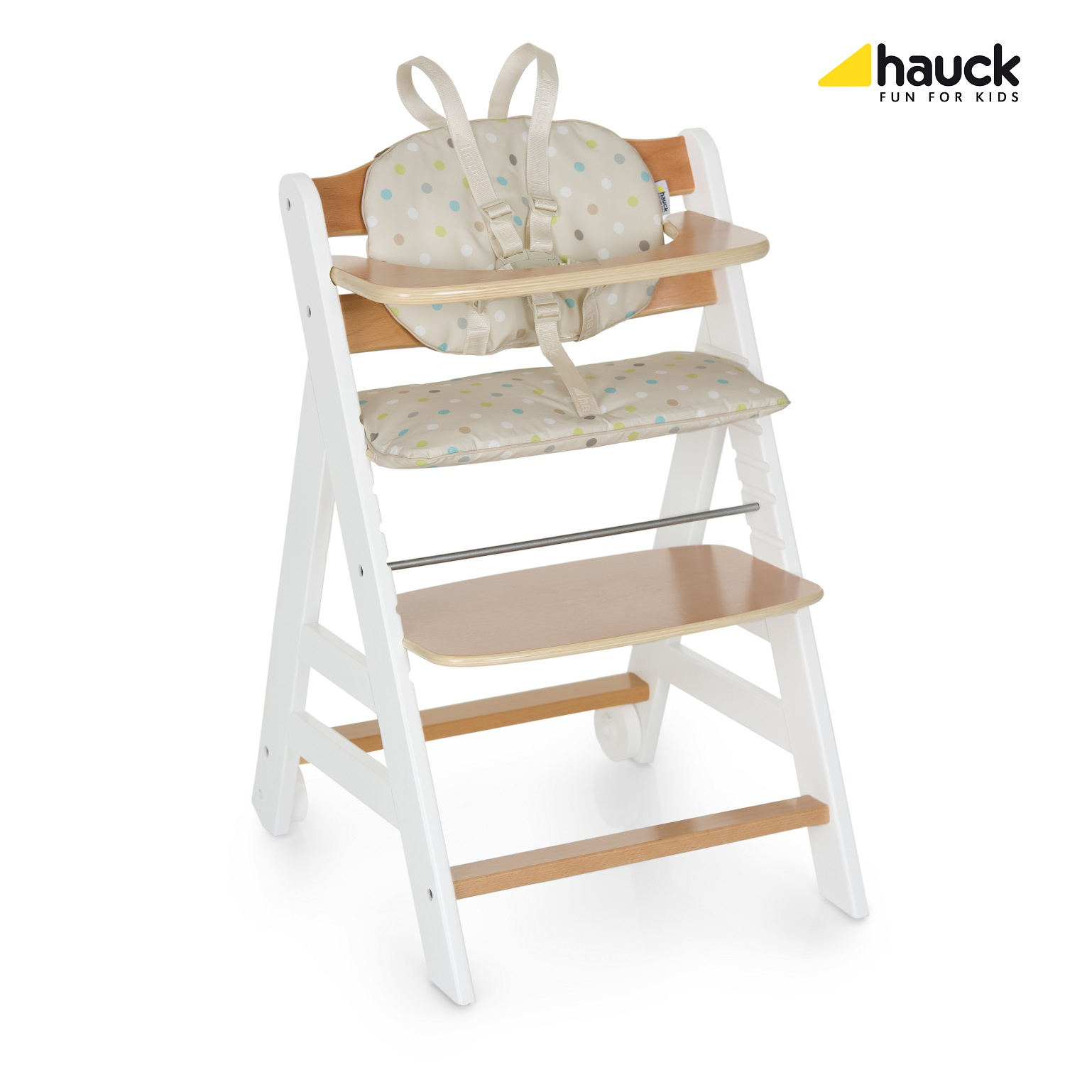 hauck high chair ikea office markus beta 43 2017 white natur dots sand buy at