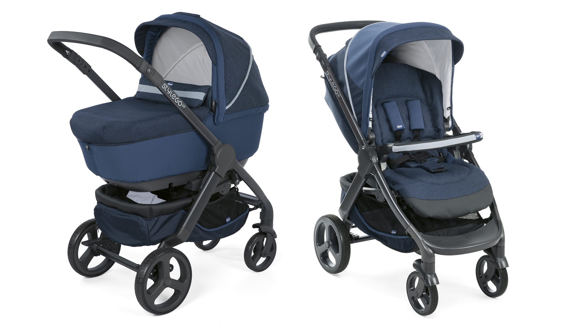 Chicco Stroller Duo Style Go Up Crossover 2019 BLUE
