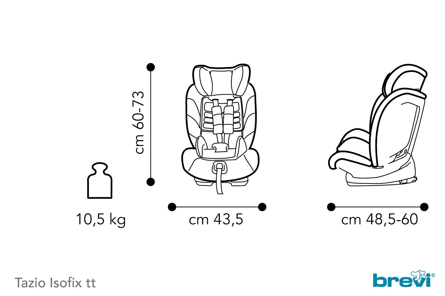 Brevi Child Car Seat Tazio Isofix Tt Grey
