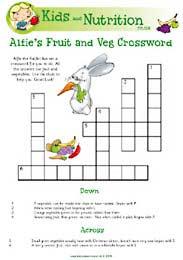 Alfies Fruit and Veg Crossword