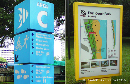 Signs at East Coast Park