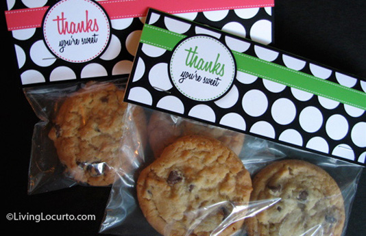 Cookie bag with Thankyou tag by livinglocurto
