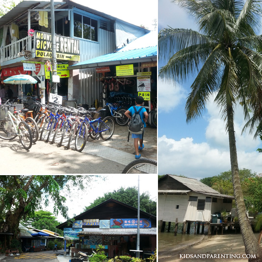 Kampong scenery and bicycle rental