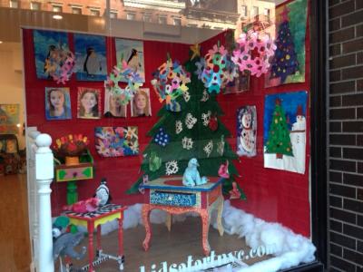 Kids at Art Holiday Window