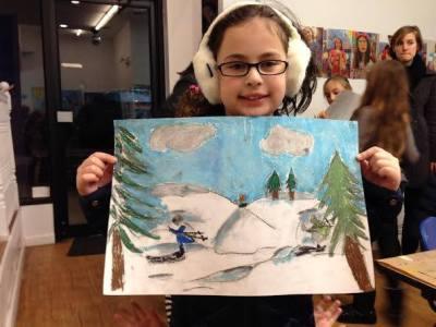 Kids at Art Snowscape