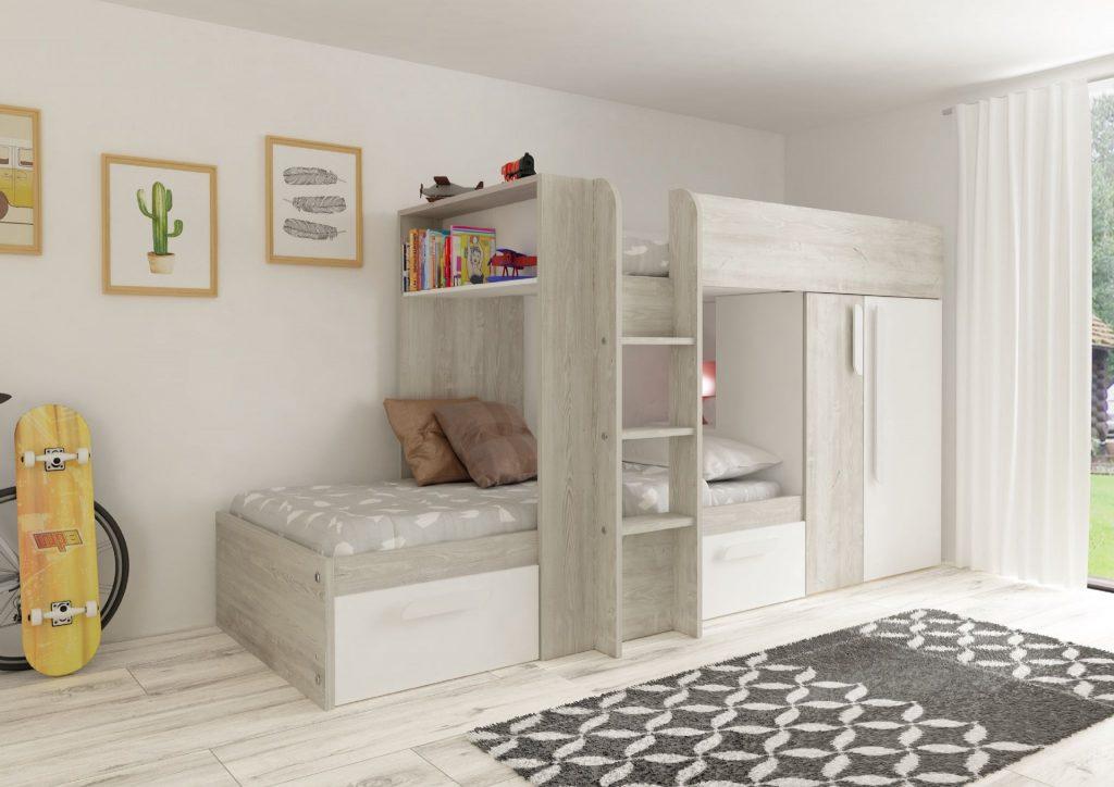 Barca White Bunkbed Kids Beds Online Ltd
