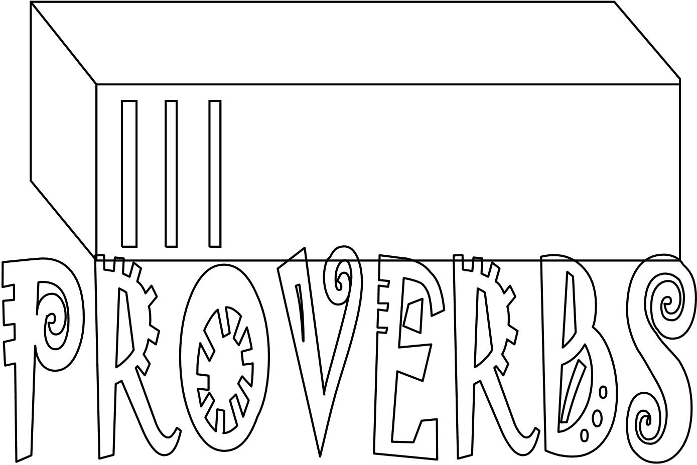 Bible Coloring Pages-Proverbs Books of the Bible