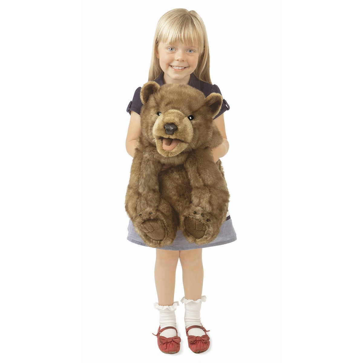 Brown Bear Cub Hand Puppets by Folkmanis Puppets 3065