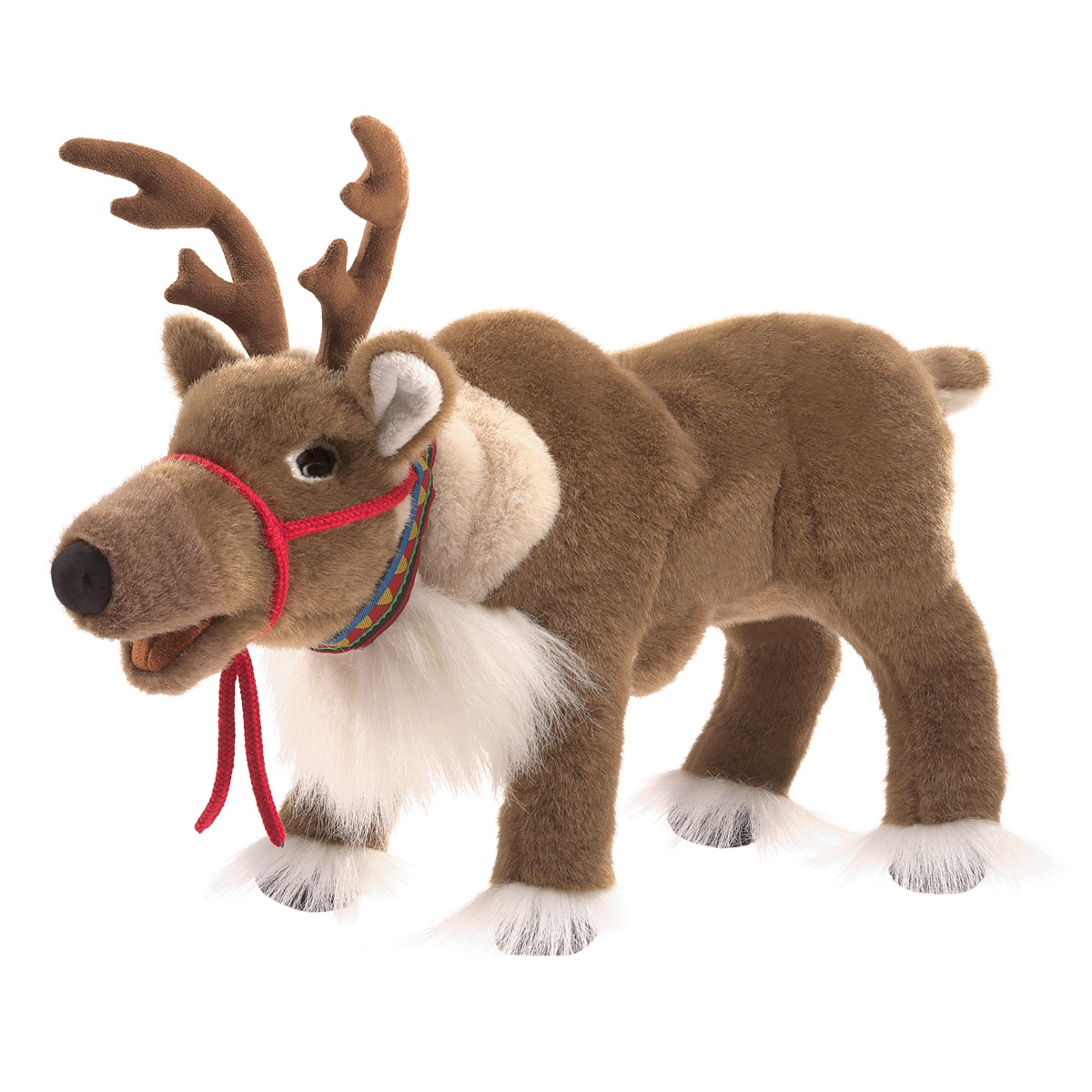 reindeer hand puppet by