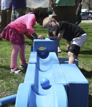 Block play at Ultimate Play Day, Photo courtesy of the Carnegie Museum of Art