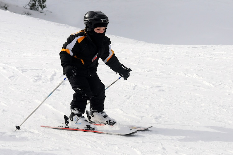 Little skier at Boyce Park, photo courtesy of Allegheny County Parks Department