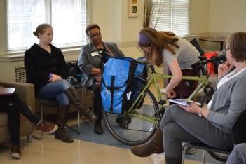 Women and Biking forum of Bike Pittsburgh, Photo by Sarah Jugovic courtesy of Bike Pittsburgh