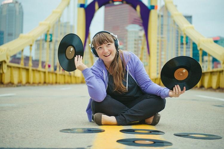 DJ KellyMom hosts Kid City dance parties.