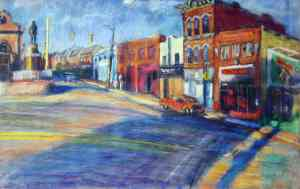 """""""Wilson's BBQ"""" by William Phfal, is part of the Pittsburgh Public Schools collection donated by The Friends of Art"""